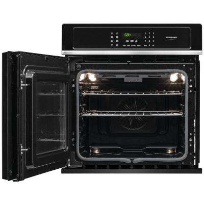 27 in. Single Electric Swing-Door Wall Oven Self-Cleaning with Convection in Black