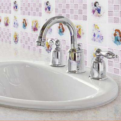 Princesses Pink 11-3/4 in. x 11-3/4 in. x 5 mm Glass Mosaic Tile