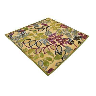 Outdoor Jade Ivory 6' 0 x 6' 0 Square Rug