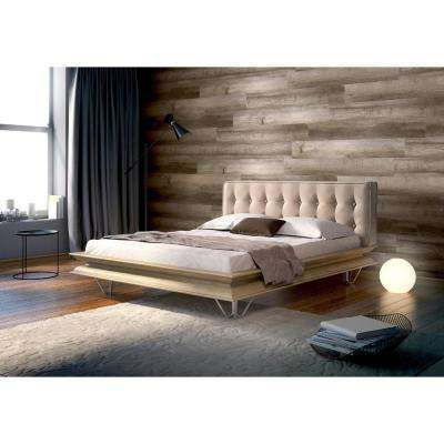 6 in. x 36 in. Caramel PVC Self Adhesive Wall Tile (14-Tiles / 21 sq. ft. per Case)