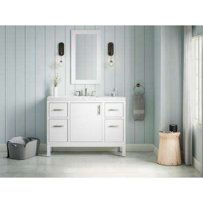 Rubicon 48 in. Bath Vanity Single Basin Vanity Top in White with White Basin
