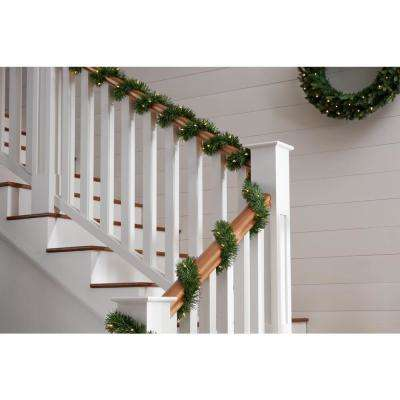 50 ft. Pre-lit Artificial Christmas Roping Garland with 200 Incandescent Clear Lights