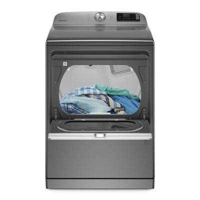 7.4 cu. ft. 120-Volt Smart Capable Metallic Slate Gas Vented Dryer with Steam and Hamper Door, ENERGY STAR
