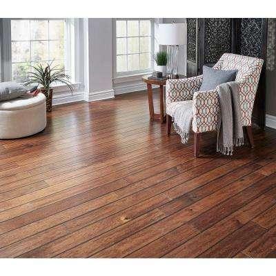 Hand Scraped Manchurian Walnut 3/4 in. T x 4-7/8 in. W x Random L Solid Exotic Hardwood Flooring (19.7 sq. ft. / case)