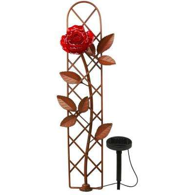 Solar LED Rose with Trellis Decor Pathway Light
