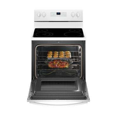 5.3 cu. ft. Freestanding Electric Range with Adjustable Self-Cleaning in White