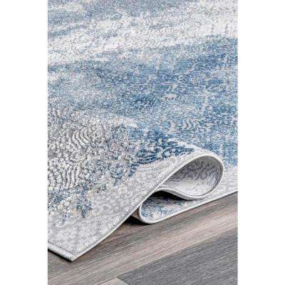 Haze Tribal Distressed Blue 8 ft. x 10 ft. Area Rug