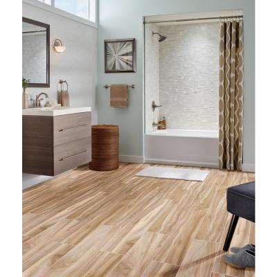 Aspenwood Amber 9 in. x 48 in. Glazed Porcelain Floor and Wall Tile (12 sq. ft. / case)