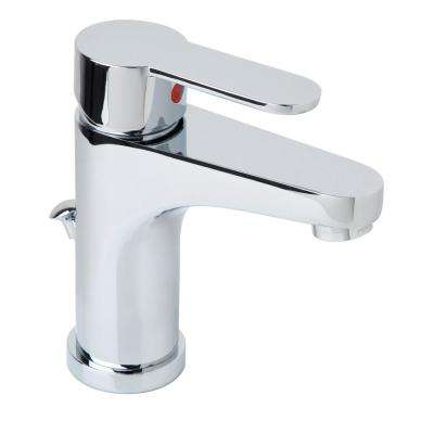 Symmetrix Single Hole Single-Handle Bathroom Faucet with Drain Assembly in Chrome