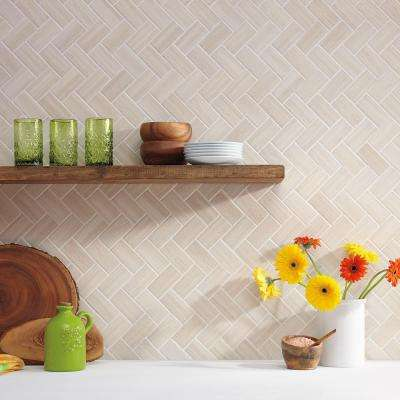 Developed by Nature Chenille 12 in. x 14 in. x 6.35 mm Ceramic Mosaic Wall Tile (0.67 sq. ft. / piece)