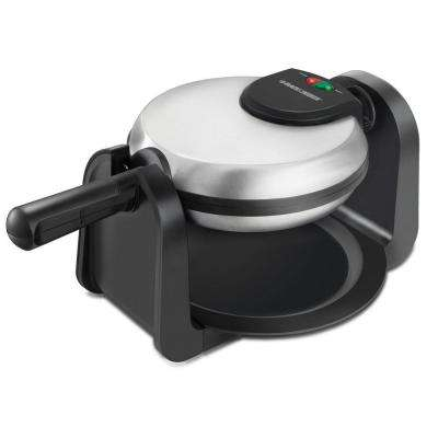 Rotary Waffle Maker in Black/Stainless Steel
