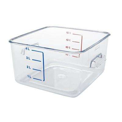 4 Qt. Clear Space Saving Square Container