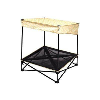 24 in. W x 24 in. D Small Yellow Diamond Instant Pet Shade with Mesh Bed