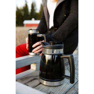 32 oz. Insulated Stainless Steel Table Top French Press Coffee Maker in Brushed Steel