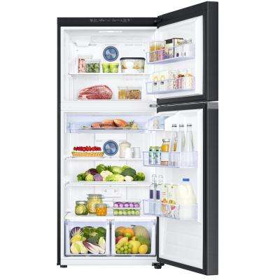 17.6 cu. ft. Top Freezer Refrigerator with FlexZone Freezer in Fingerprint Resistant Black Stainless, Energy Star