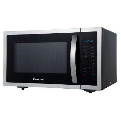 1.6 cu. ft. Countertop Microwave in Stainless steel with Gray Cavity
