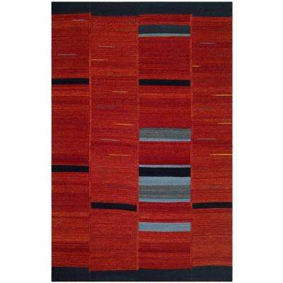 Kilim Red 5 ft. x 8 ft. Area Rug