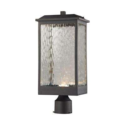 Newcastle Matte Black Outdoor LED Post Mount