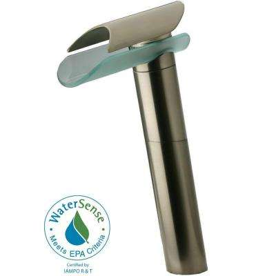 Morgana Single Hole 1-Handle High-Arc Bathroom Vessel Faucet in Brushed Nickel