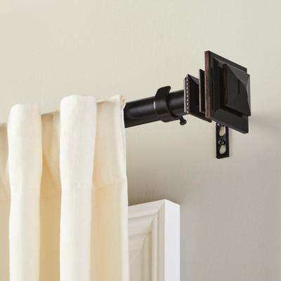 Mix and Match 1 in. Square Curtain Drapery Rod Finial in Oil Rubbed Bronze (2-Pack)