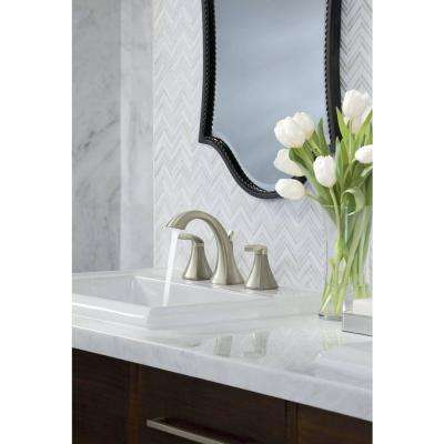 Voss 8 in. Widespread 2-Handle High-Arc Bathroom Faucet Trim Kit with Valve in Brushed Nickel