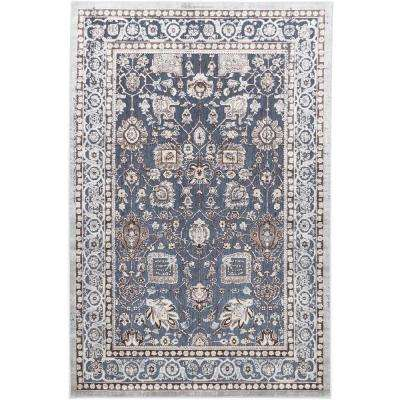 Antika Cream, Turquoise 5 ft. 8 in. x 7 ft. 10 in. Area Rug