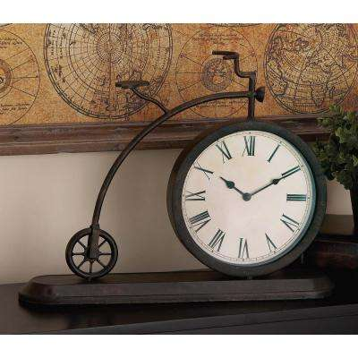 14 in. x 19 in. Classic Bicycle Iron Table Clock