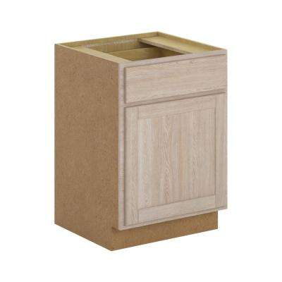 Assembled 24x34.5x24 in. Stratford Oak Base Cabinet in Unfinished Wood