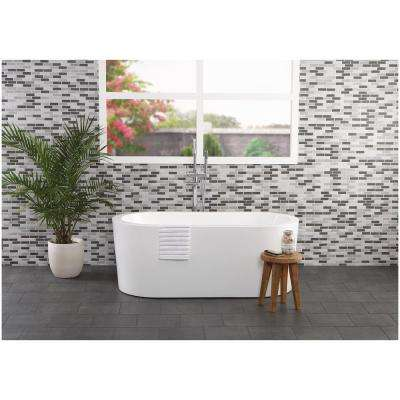 Modern Renewal Painted Gray Brick Joint 12 in. x 12 in. x 6.35 mm Glazed Ceramic Mosaic Wall Tile (0.88 sq. ft. / piece)