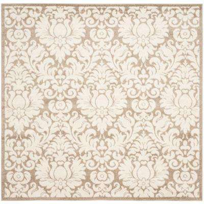 Amherst Wheat/Beige 7 ft. x 7 ft. Indoor/Outdoor Square Area Rug