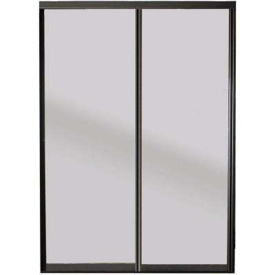 Silhouette 1-Lite Mystique Glass Bronze Finish Aluminum Interior Sliding Door