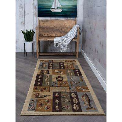 Nature Beige 3 ft. x 7 ft. Indoor Runner Rug