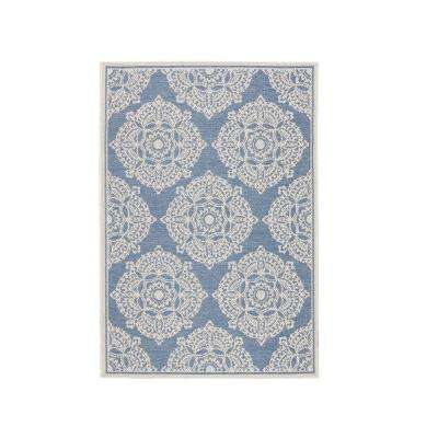 Cleo Blue 5 ft. 10 in. x 9 ft. 2 in. Area Rug