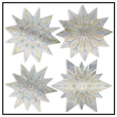 Artscape 12 inch x 12 inch Nordic Star Holiday Decorative Window Accents Film (4-Piece)