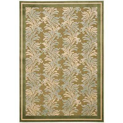 Plume Stripe Green 4 ft. x 5 ft. 7 in. Area Rug