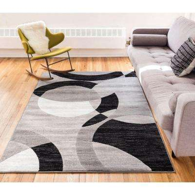 Dulcet Bingo Grey 8 ft. x 10 ft. Geometric Area Rug