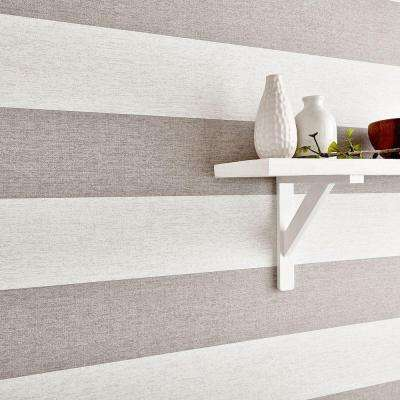 Natural Calico Stripe Wallpaper