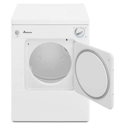 3.4 cu. ft. 120-Volt White Electric Compact Vented Dryer with Sensor Dry