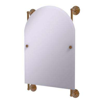 Prestige Que New Collection Arched Top Frameless Rail Mounted Mirror in Brushed Bronze