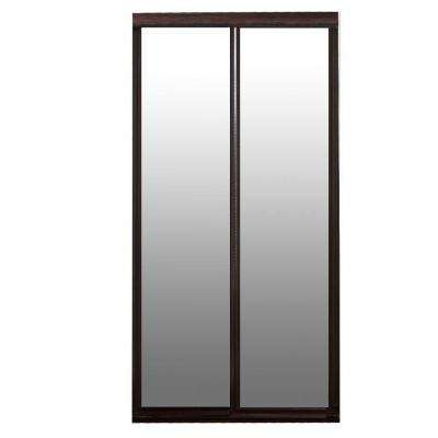 Beau Majestic Mirror Dark Cherry Hardwood Frame Interior Sliding Door
