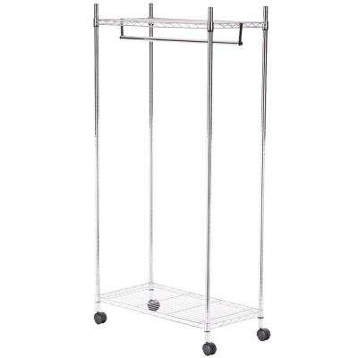 Supreme Shelving Collection 36 in. x 70.25 in. Supreme Garment Rack in Chrome