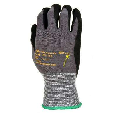 EndurancePro Seemless Knit Nylon Men's Medium Gloves in Black with Micro Form Nitrile Grip