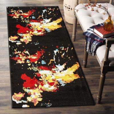 Fusion Black 2 ft. 3 in. x 7 ft. Indoor Runner Rug