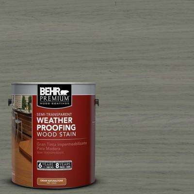 1-gal. #ST-137 Drift Gray Semi-Transparent Weatherproofing Wood Stain