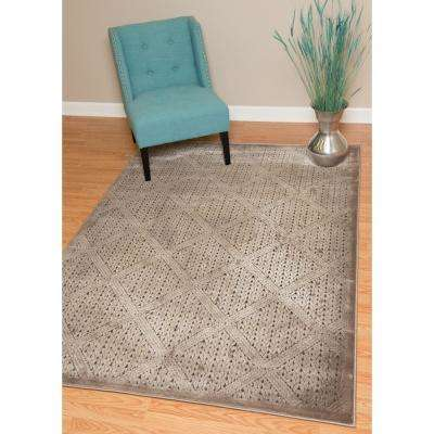 Weathered Treasures Devonshire Taupe 7 ft. 10 in. x 10 ft. 6 in. Area Rug