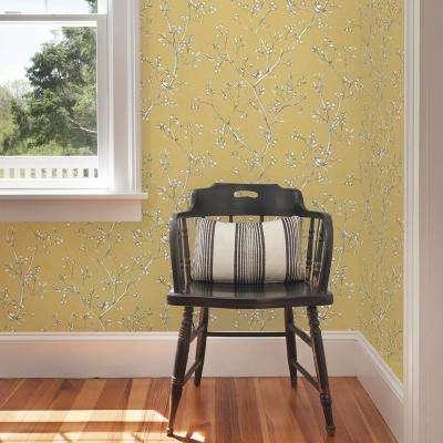 Tadley Yellow Branch Wallpaper