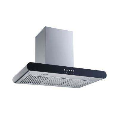 30 in. Convertible Wall Mount Range Hood in Stainless Steel with Stainless Steel Baffle Filters and Push Button