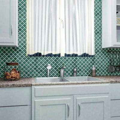 Hudson Tangier Emerald 12 in. x 12 in. Porcelain Mosaic Tile (10.96 sq. ft. / Case)