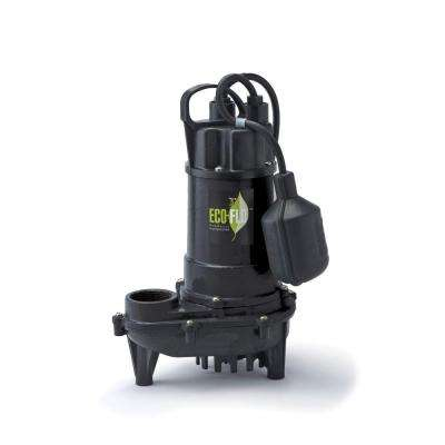 1/2 HP Cast Iron Submersible Sump Pump with Wide Angle Switch