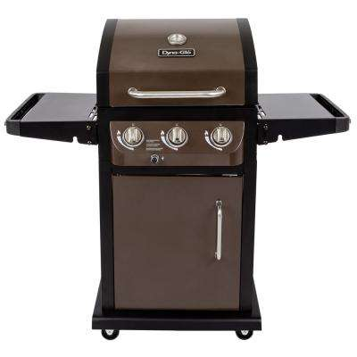 Smart Space Living 3-Burner Propane Gas Grill in Bronze